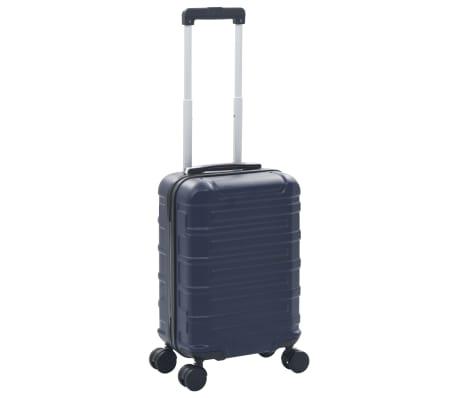 vidaXL Maleta con ruedas trolley rígida azul marino ABS