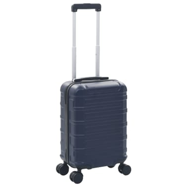 vidaXL Maleta con ruedas trolley rígida azul marino ABS[1/7]