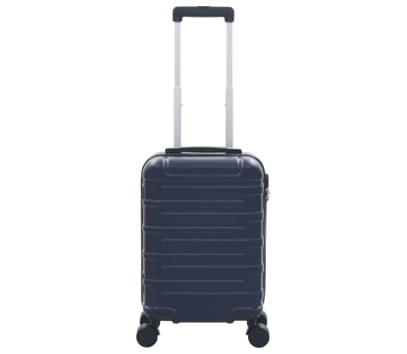 vidaXL Maleta con ruedas trolley rígida azul marino ABS[2/7]