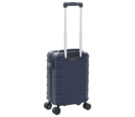 vidaXL Maleta con ruedas trolley rígida azul marino ABS[3/7]