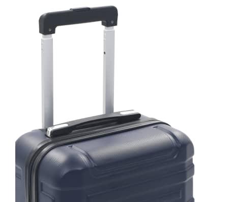 vidaXL Maleta con ruedas trolley rígida azul marino ABS[6/7]