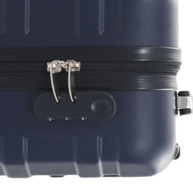 vidaXL Maleta con ruedas trolley rígida azul marino ABS[7/7]