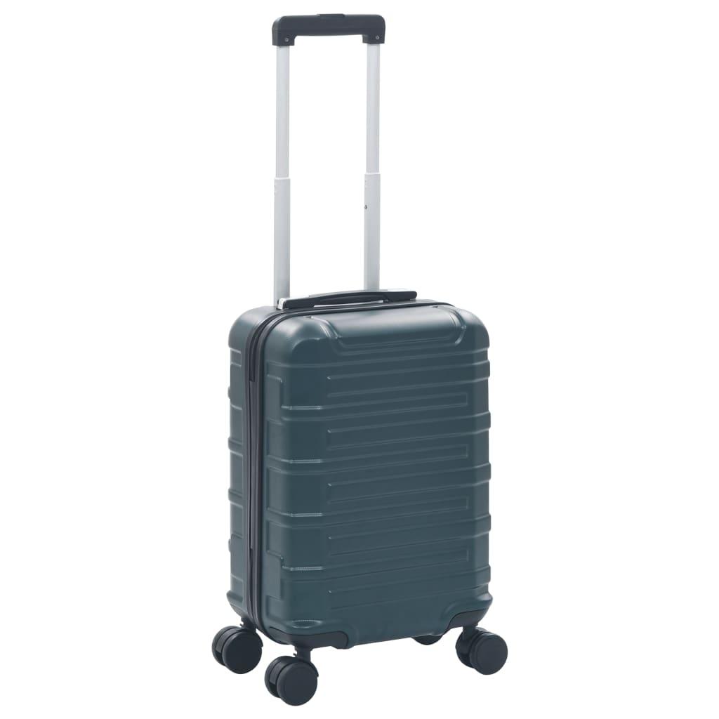 vidaXL Skořepinový kufr na kolečkách zelený ABS