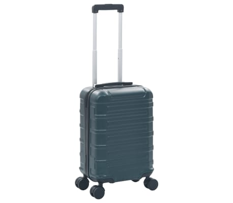 vidaXL Maleta con ruedas trolley rígida verde ABS