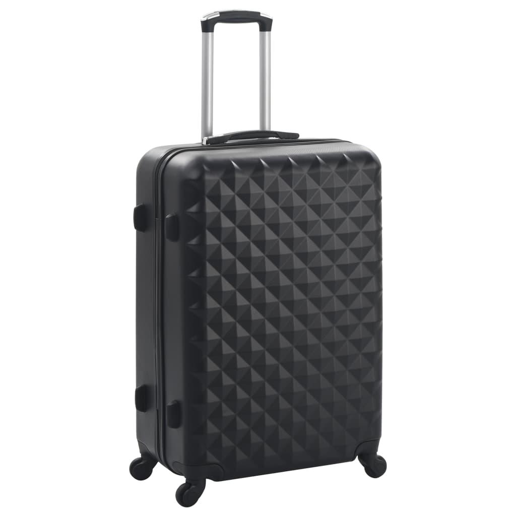 VidaXL 3 delige Harde kofferset ABS zwart