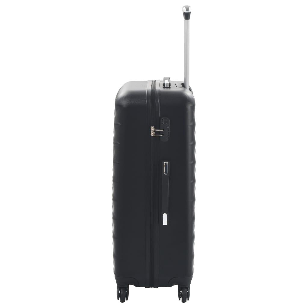 Kõvakattega kohver 3 tk must ABS