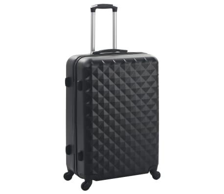 vidaXL Hardcase Trolley Set 3 pcs Black ABS[2/8]
