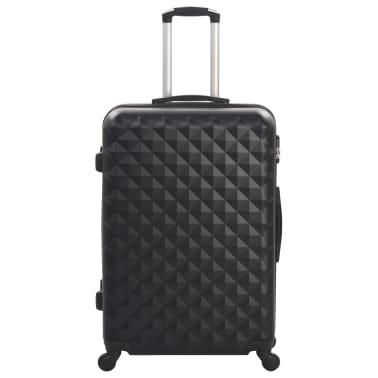 vidaXL Hardcase Trolley Set 3 pcs Black ABS[3/8]
