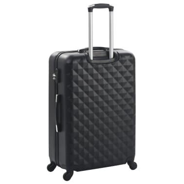 vidaXL Hardcase Trolley Set 3 pcs Black ABS[4/8]