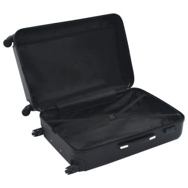 vidaXL Hardcase Trolley Set 3 pcs Black ABS[6/8]
