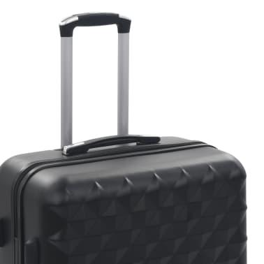 vidaXL Hardcase Trolley Set 3 pcs Black ABS[7/8]