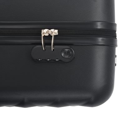 vidaXL Hardcase Trolley Set 3 pcs Black ABS[8/8]