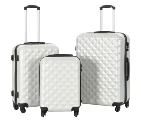 vidaXL Hardcase Trolley Set 3 pcs Bright Silver ABS[1/8]