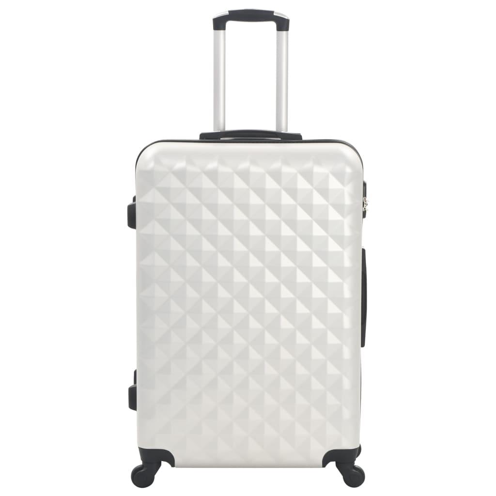 Kõvakattega kohvrid 3 tk, särav hõbedane, ABS