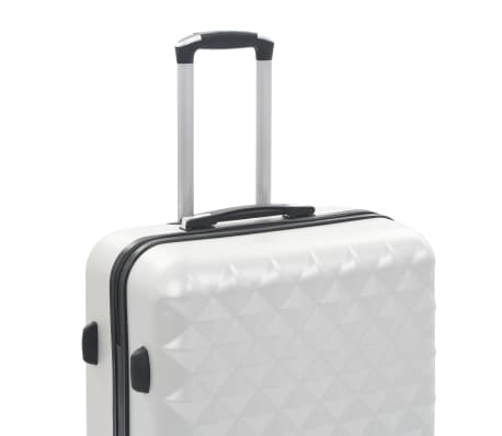 vidaXL Hardcase Trolley Set 3 pcs Bright Silver ABS[7/8]