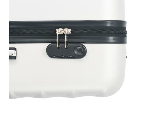 vidaXL Hardcase Trolley Set 3 pcs Bright Silver ABS[8/8]