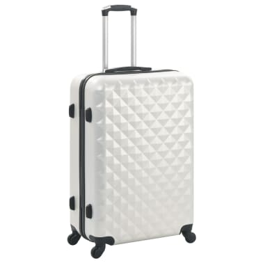 vidaXL Hardcase Trolley Set 3 pcs Bright Silver ABS[2/8]