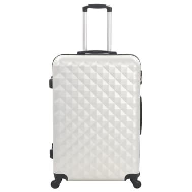 vidaXL Hardcase Trolley Set 3 pcs Bright Silver ABS[3/8]