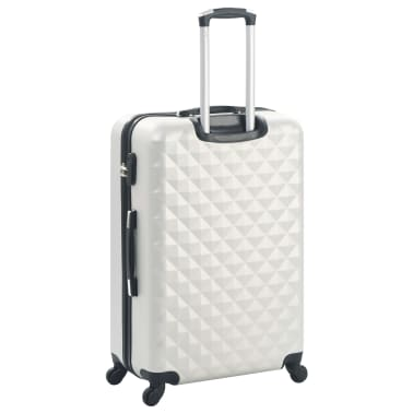 vidaXL Hardcase Trolley Set 3 pcs Bright Silver ABS[4/8]