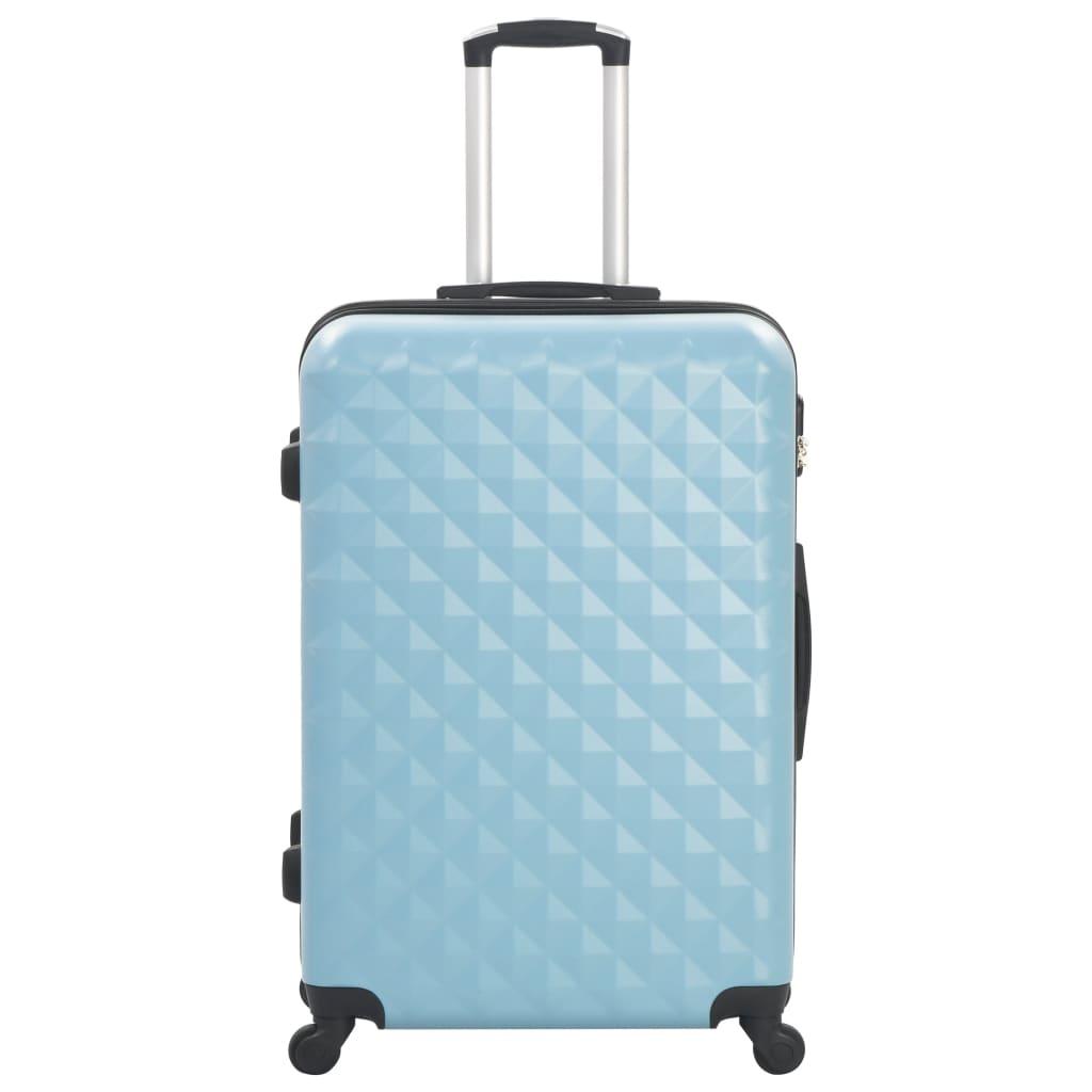 vidaXL 3-delige Harde kofferset ABS blauw