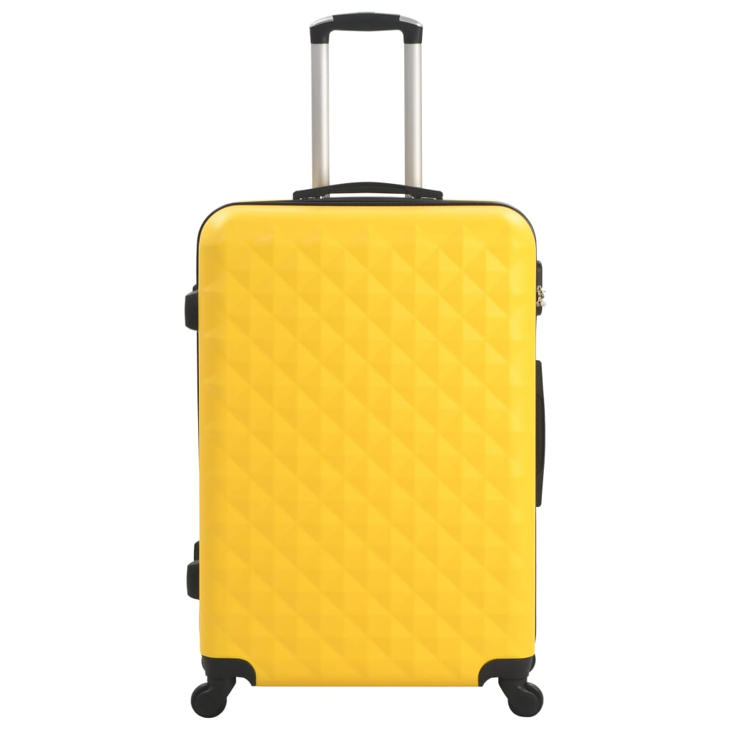Kõvakattega kohver 3 tk kollane ABS