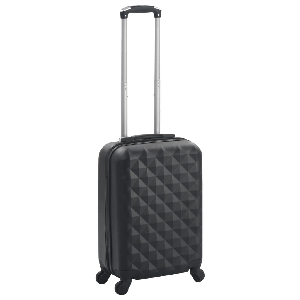 vidaXL Skořepinový kufr na kolečkách černý ABS