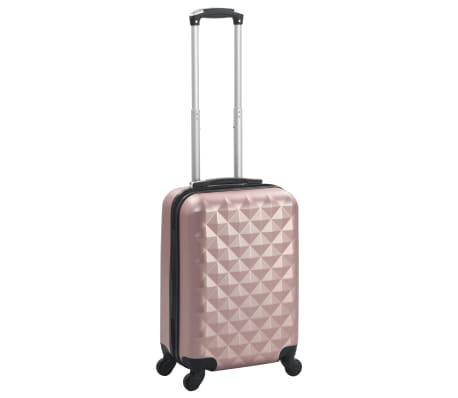 vidaXL Valiză cu carcasă rigidă, roz auriu, ABS