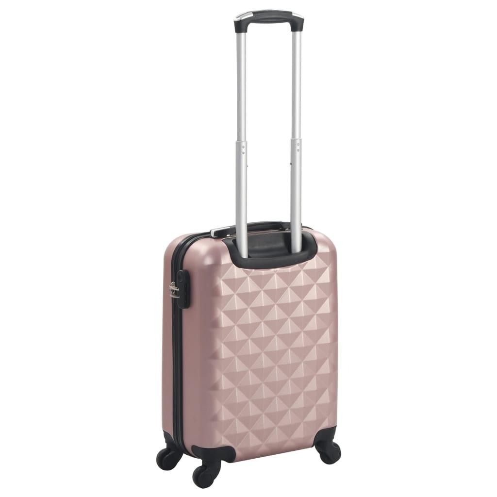 Kõvakattega kohver roosakaskuldne ABS