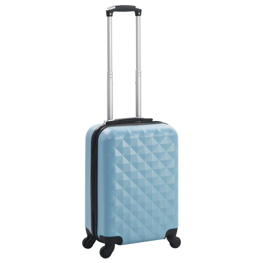 Skořepinový kufr na kolečkách modrý ABS