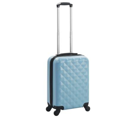 vidaXL Maleta con ruedas trolley rígida azul ABS