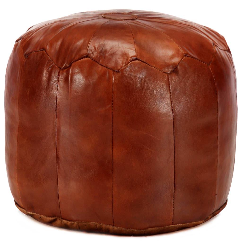 vidaXL Sedací puf bronzový 40 x 35 cm pravá kozí kůže