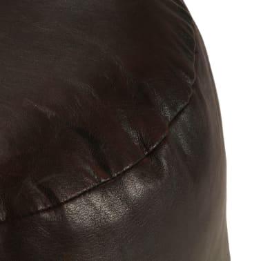 vidaXL Pufas, tamsiai rudos spalvos, 60x30 cm, tikra ožkos oda[2/3]
