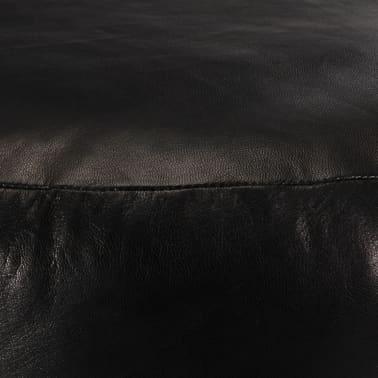 vidaXL Pufas, juodos spalvos, 60x30 cm, tikra ožkos oda[2/3]