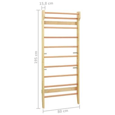 vidaXL Sieninė karstyklė, 80x15,8x195 cm, mediena[10/10]