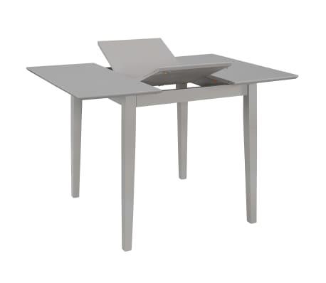 vidaXL Eettafel verlengbaar (80-120)x80x74 cm MDF grijs[2/6]