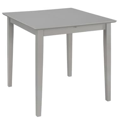 vidaXL Eettafel verlengbaar (80-120)x80x74 cm MDF grijs[3/6]