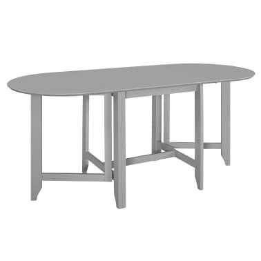 vidaXL Table à dîner extensible Gris (75-180) x 75 x 74 cm MDF[1/6]