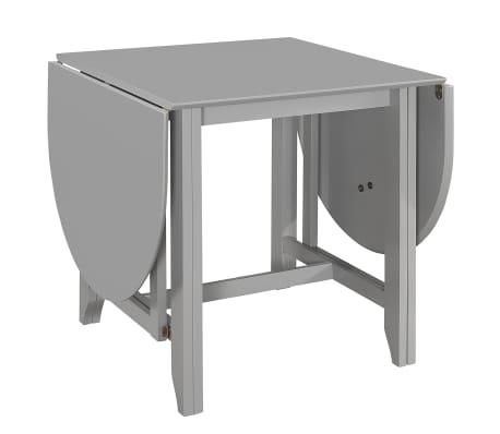 vidaXL Table à dîner extensible Gris (75-180) x 75 x 74 cm MDF[3/6]