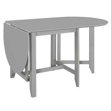 vidaXL Table à dîner extensible Gris (75-180) x 75 x 74 cm MDF[4/6]