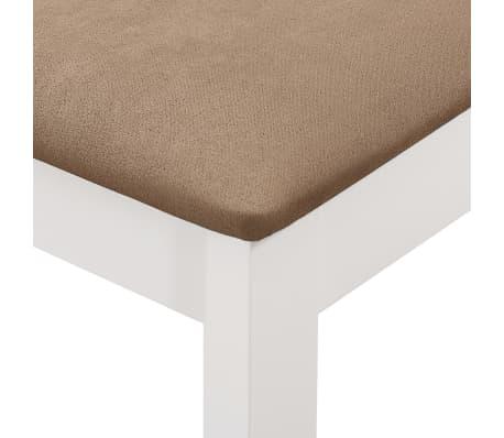 vidaXL Sillas de comedor con cojines madera maciza blanca 4 unidades[6/7]
