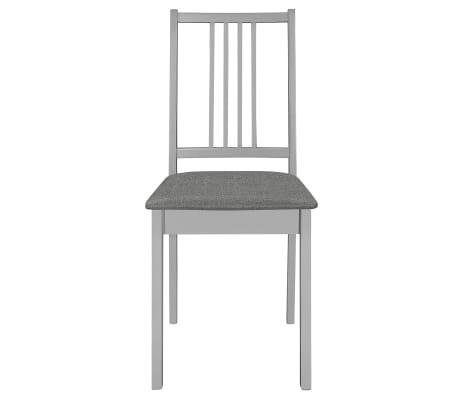 vidaXL Krzesła z poduszkami, 4 szt., szare, lite drewno[3/7]
