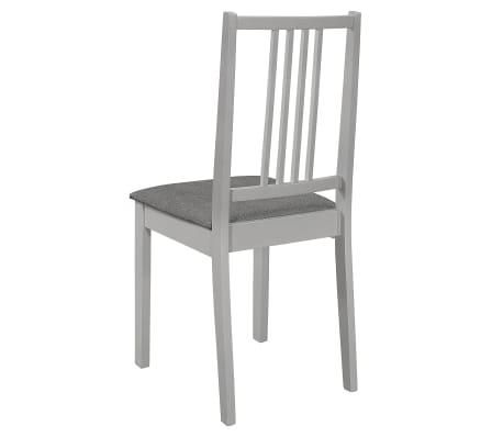 vidaXL Krzesła z poduszkami, 4 szt., szare, lite drewno[5/7]