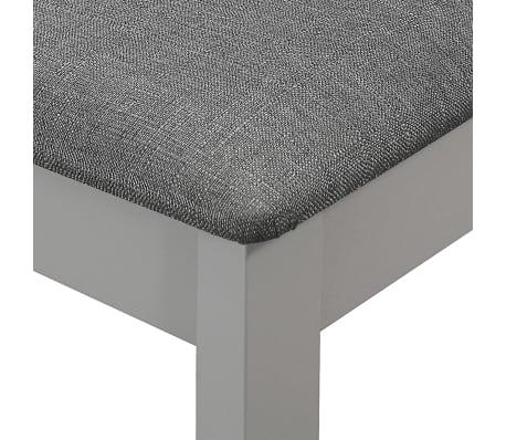 vidaXL Krzesła z poduszkami, 4 szt., szare, lite drewno[6/7]