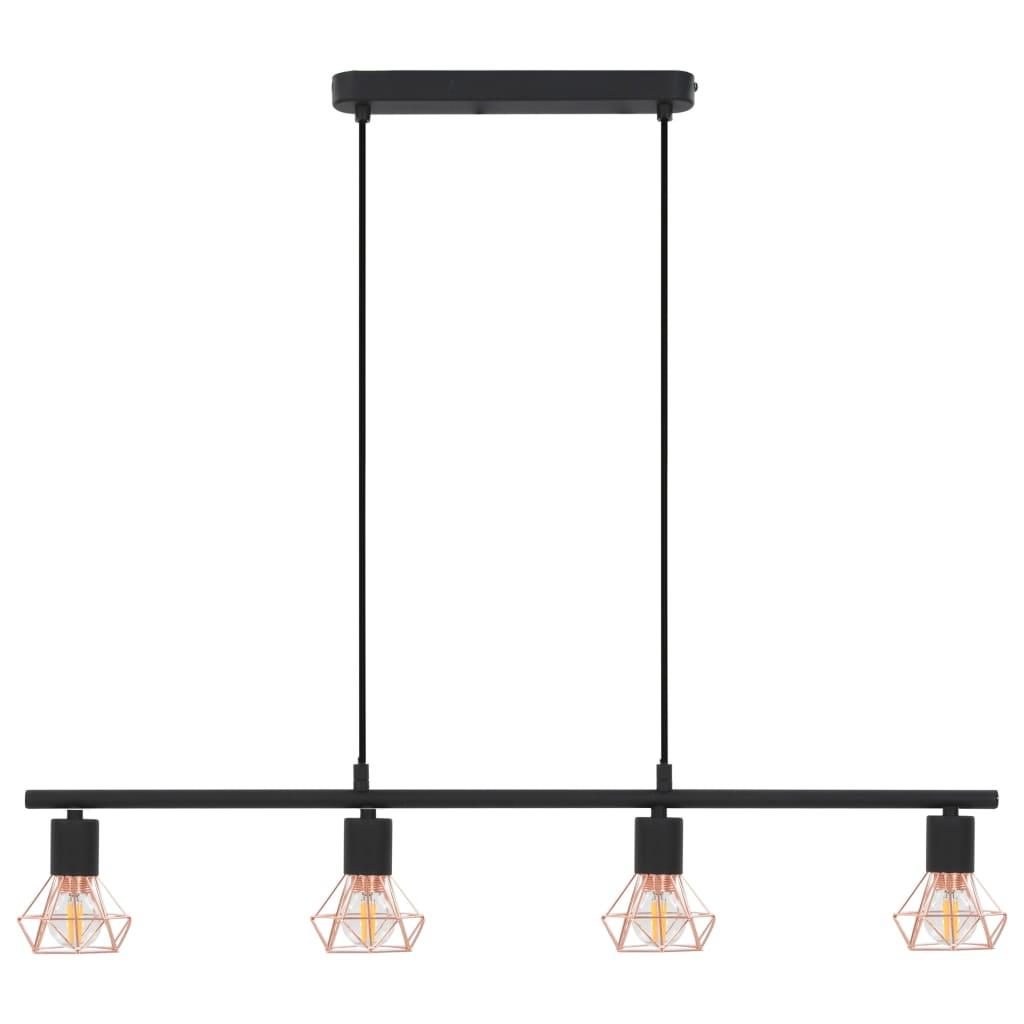 Comwinkel Plafondlamp E14 80 cm zwart en koper