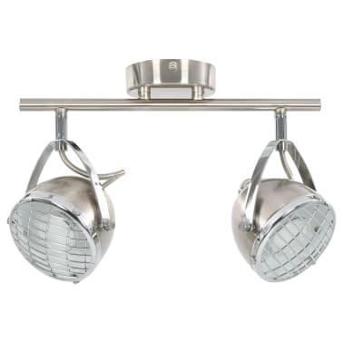vidaXL Taškinis šviestuvas, sidabrinės spalvos, 2 krypčių, GU10[4/9]