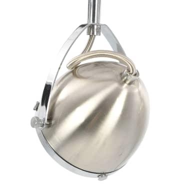 vidaXL Taškinis šviestuvas, sidabrinės spalvos, 2 krypčių, GU10[7/9]