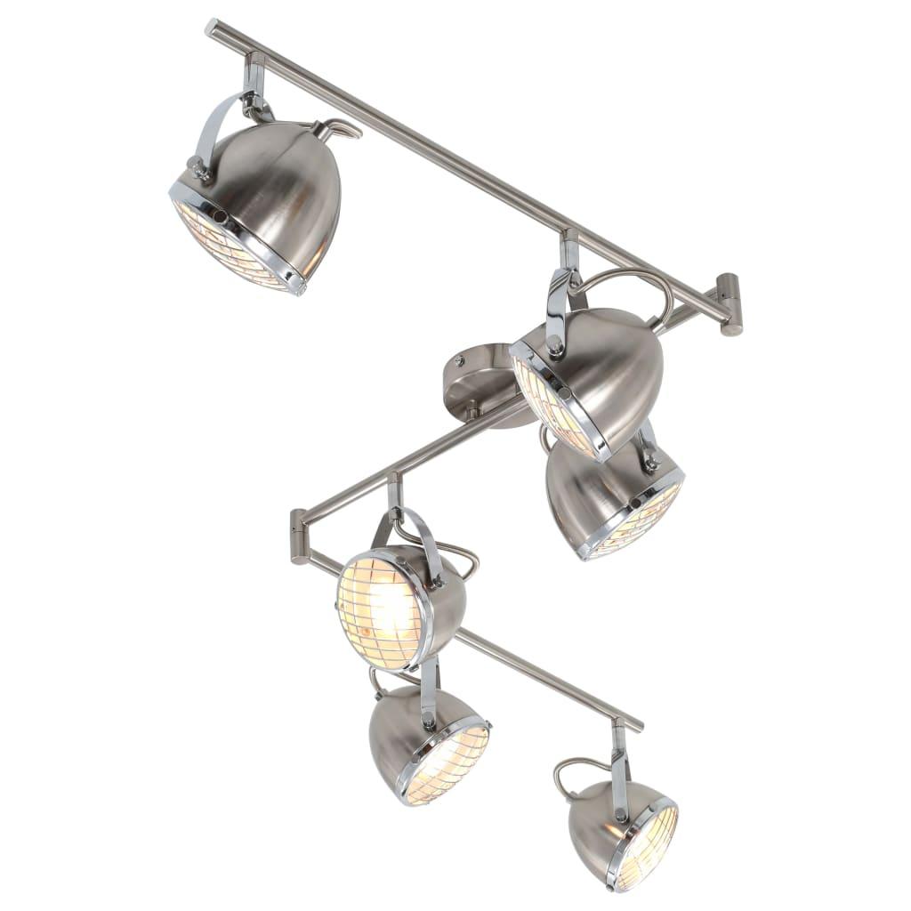 vidaXL 6směrné bodové světlo stříbrné GU10