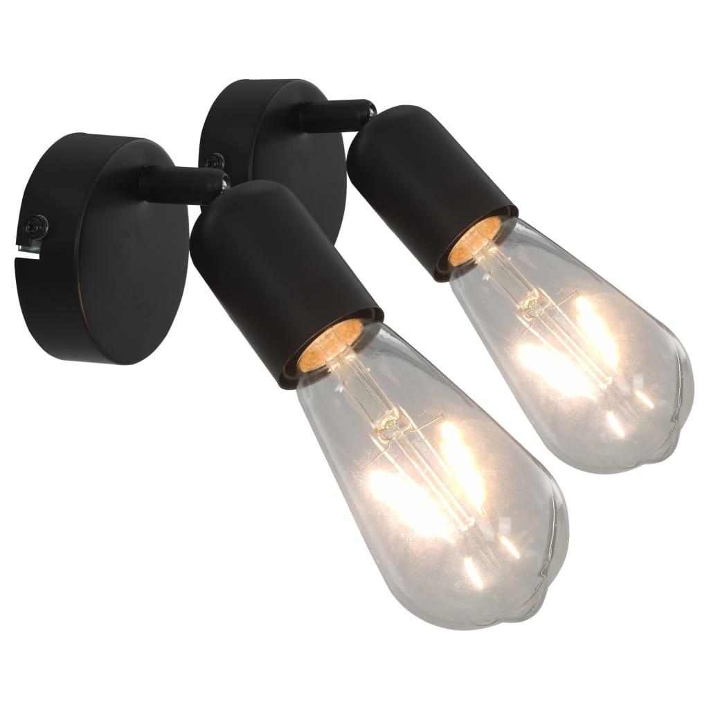 vidaXL Bodová světla 2 ks černá E27