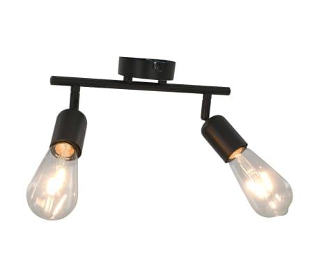 vidaXL 2-Wege-Spotlicht mit Glühlampen 2 W Schwarz E27