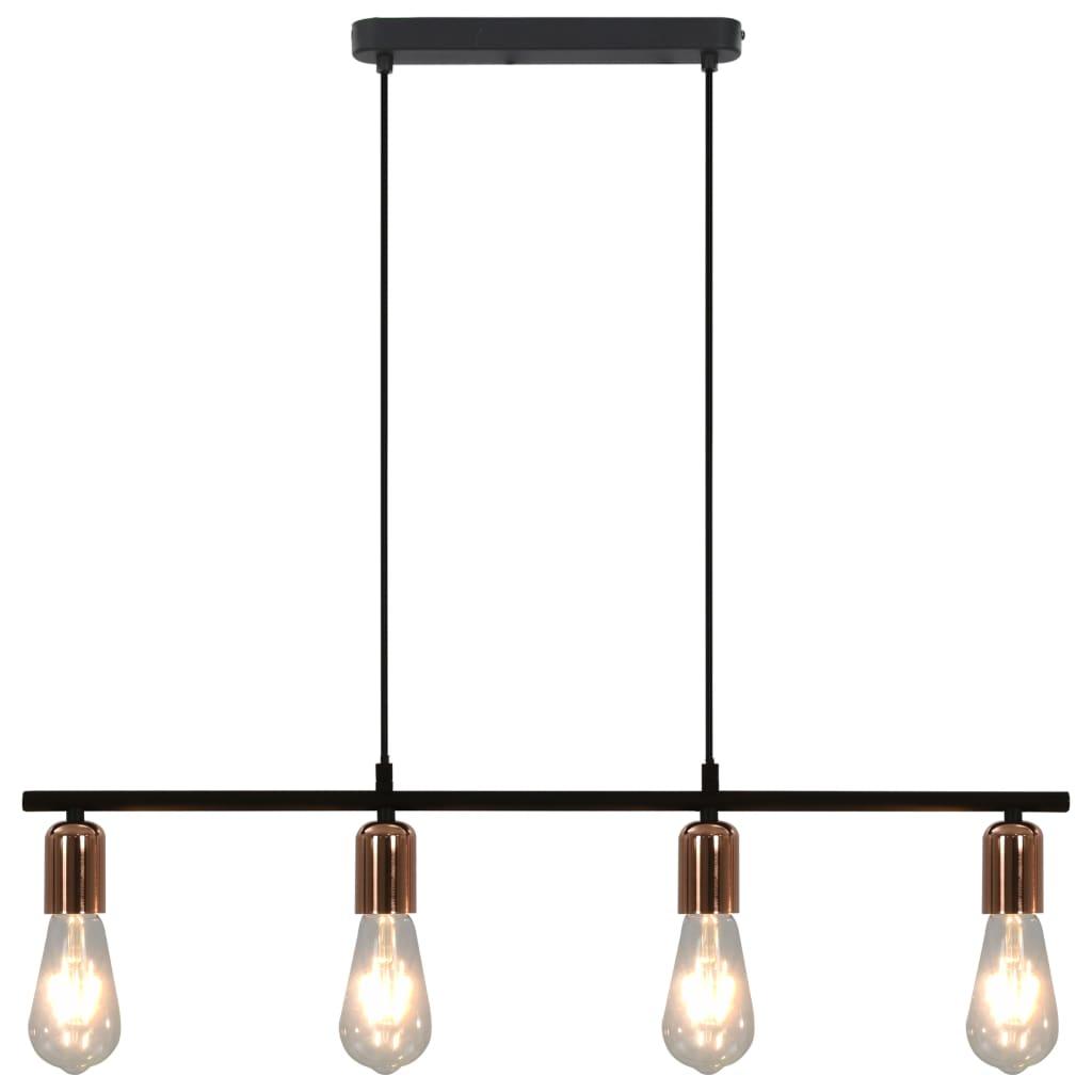 Comwinkel Plafondlamp met filament peren 2 W E27 80 cm zwart en koper